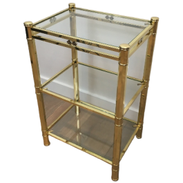 Brass And Chrome Side Table. French. Circa 1970