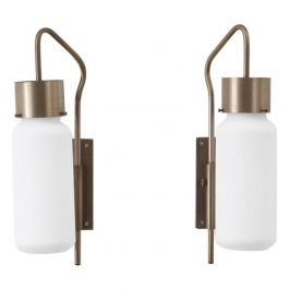 A pair of Bidone wall lights by Luigi Caccia DominioniAzucena, Italy c1960
