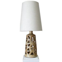 A mid Century French Geometric Lamp