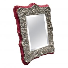 Vintage Decorative Mirror, English, Sterling Silver, 20th Century, circa 1950
