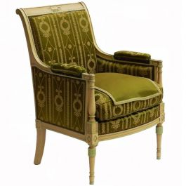 Directoire Empire st Bergere Chair to Recover Original Paint Early 20th Century