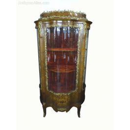 19th Century French Serpentine Display Cabinet