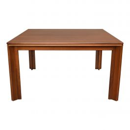 Afra & Tobia Scarpa Square Dining Table in Walnut for Molteni, Italy, circa 1970