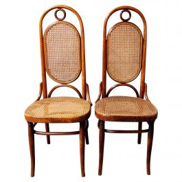 Thonet No. 17 Dining Chairs, Set of Two, 1980s