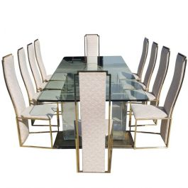 1970s Extra Large Dining Set By Maison Jansen