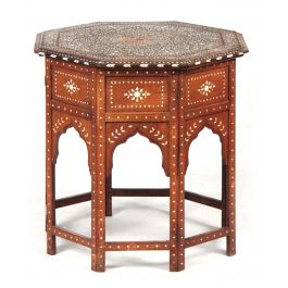 Large 19th Century Anglo-Indian Octagonal Table, In restoration