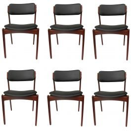 1960s Erik Buch Set of Six Teak Dining Chairs - Choice of Upholstery