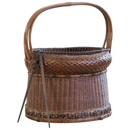 A Fine Wicker And Cane Portable Charcoal Burner