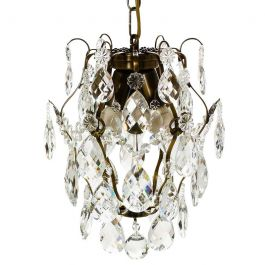 Baroque Crystal Chandelier: Dark Brass