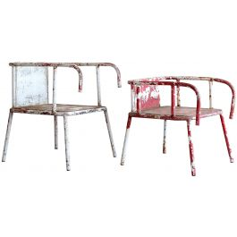 Chic Industrial Armchairs