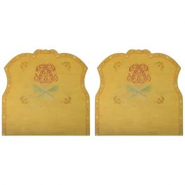 Pair of Bed Headboards by Lepetz Trompe L'oeil, 20th Century priced individually