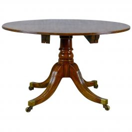 Antique Dining Table, English, Mahogany, Seats 4-6, Extending, Regency