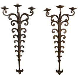 Pair of Iron Wall Lights