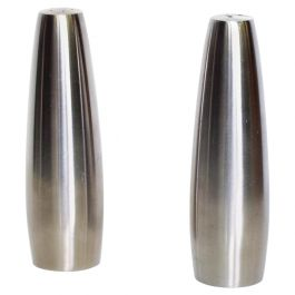 Danish Modern Stainless Steel Salt & Pepper Shakers Dansk Design, Ihq Danmark