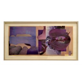 Abstract Collage Art in Tones of Purple by Bill Allan