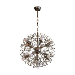 Polished Metal Sputnik Chandelier