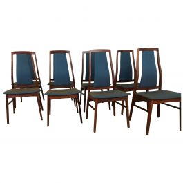 Midcentury Dining Chairs Set of 8 by Niels Koefoed