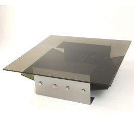 1970s Stainless Steel Coffee Table