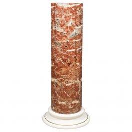 Ceramic Pedestal with Rouge Marble Effect Finish, Late 20th Century Plant Stand