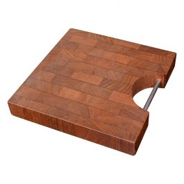 Danish Modern Staved Teak Cheese Cutting Board Nissen Attributed Denmark, 1960s
