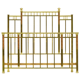 French Brass Bed Us Queen Uk King Size Circa 1920