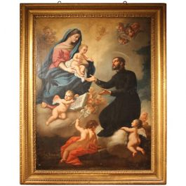 1733s Religious Painting By Michelangelo Buonocore