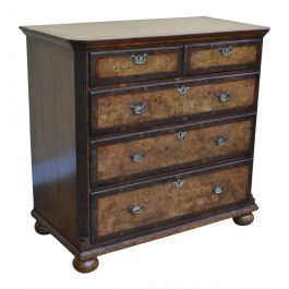 George III Burr Walnut Chest of Drawers