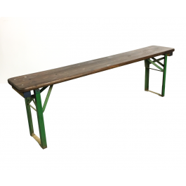 Customised Length Stripped And Waxed Vintage German Folding Beer Bench