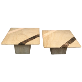 MARBLE COFFEE TABLE COMPOSED OF 2 ELEMENTS