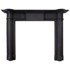 19th century Palladian Slate Fireplace Mantel