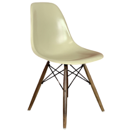 EAMES HERMAN MILLER DSW SIDE CHAIR IN PARCHMENT