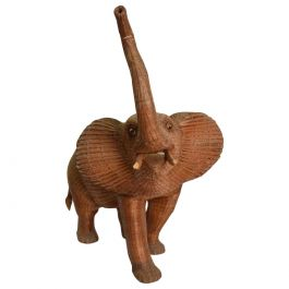 Antique Elephant Wicker Box Hollywood Regency Period