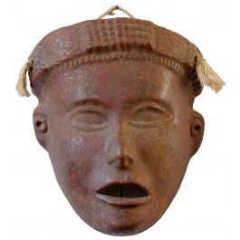 Terracotta Tribal Mask