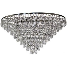 Plafond Crystal Chandelier: Large with drop bottom crystals (120cm/47.2 inches)