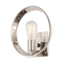 Silver Circle Wall Light