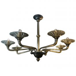 Amber Murano Glass Chandelier