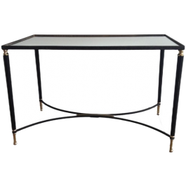 Brass And Black Lacquered Coffee Table. Circa 1950