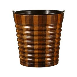 19th Century Sycamore and Walnut Segmented Bucket