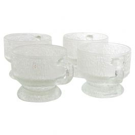 Midcentury Frosted Cups Attributed to Tapio Wirkkala Ultima Thule Mugs IITTALA