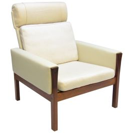 Danish Rosewood Lounge Chair By Hans Wegner