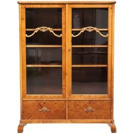 Swedish Art Deco Cabinet Armoire Marquetry Inlaid Early 20th Century