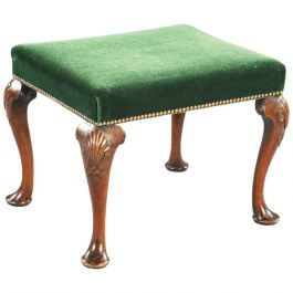 George II Pad Foot Walnut Stool