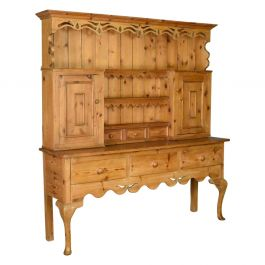 Large Pine Dresser in Victorian Taste Country Kitchen Cabinet, Late 20th Century