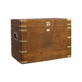 Antique Silver Chest, English, Oak, Brass, Case, 19th Century, circa 1900