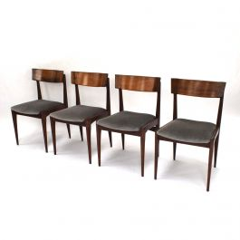 Brazilian Rosewood Dining Chairs Set of 4