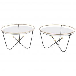 Pair of Low Side Table End Table by Edward Ihnatowicz Mars Furniture