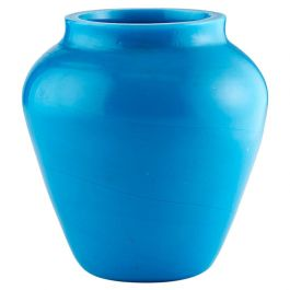 Light Blue Chinese Peking Glass Vase