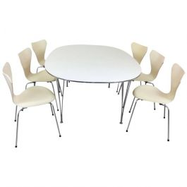 Mid Century Danish Dining Table and Chairs