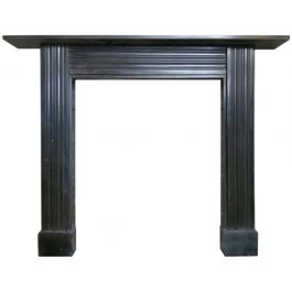 Antique Georgian Irish Black Marble Fireplace Mantel