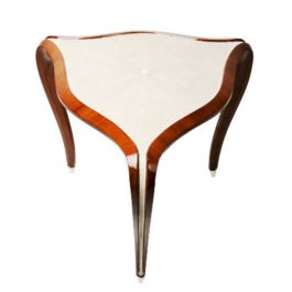 Mahogany Occasional Table with Shagreen Inlay